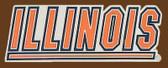 "U of Illinois NCAA Belt Buckle  4"" x 1-1/2"""