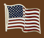 USA Flag Belt Buckle, 3 x 2-1/2