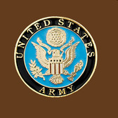 "United States Army Belt Buckle, Round, 2-3/4"" x 2-3/4"""
