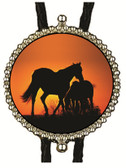 Wild Horses at Sunset Bolo Tie