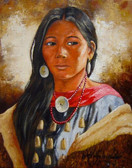 Young  Crow Woman Native American Fine Art