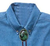 African Turquoise Oval Bolo Tie