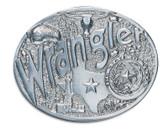 "Wrangler Belt Buckle - Texas  4"" x 3-1/4"""