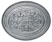 "Wrangler Belt Buckle - Two Bullriders   4"" x 3-1/4"""