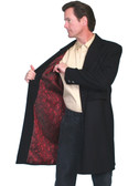 Wool Frock Coat w/ Red Satan Floral Deswign Lining  34 thru 56