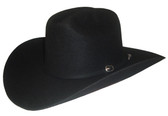 WOOL 3X BLACK FELT Cowboy Hat.