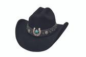 AGAINST ALL ODDS  Felt Cowboy hat by Bullhide® Hats.   Cowboy hat by Bullhide® Hats.