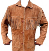 ALL NEW DUKES SUEDE FRINGED JACKET Western  All Suede Coat ** BEST SELLER**