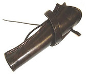 A Plain leather cross draw holster