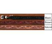 """All Leather Hat Band Tooled All Leather  3/4 """"Inch Wide"""