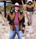 "All NEW Jeremiah ""Buck"" Johnson Suede Fringed Beaded Jacket Native Ameican Indian Designed"