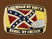 American/Rebel by Choice Belt Buckle