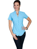 100% Peruvian Cotton Turquoise Blouse 62210