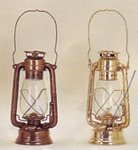 ANTIQUED RAILROAD OIL LANTERNS