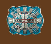 Aztec Turtle Belt Buckle