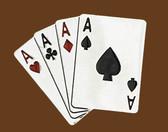 4 Aces Belt Buckle,
