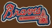 "Atlanta Braves MLB Buckle  3-1/2"" x 1-1/2"""