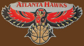 Atlanta Hawks NBA Buckle  4-1/4* x 2-1/4""