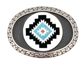 Aztec Design Belt Buckle,