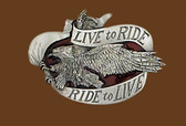 Live to Ride Belt Buckle,