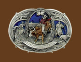 Large Championship Rodeo Belt Buckle