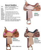 BARREL SADDLES 3 CHOICES OF DESIGN