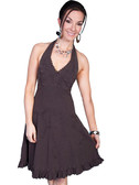 100% Peruvian Cotton Halter Dress With Soutache Decoration 62154