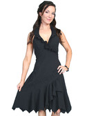 100% Peruvian Cotton Halter Dress With Soutache Decoration 62156