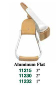 1 Pair Stirrups Aluminum Flat 3 Inch