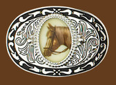 Belt Buckle, Horseheads, 3-1/2 x 2-3/8