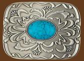 Belt Buckle, Turquoise Stone 53616