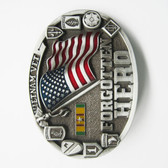 Belt Buckle (Vietnam Vet Forgotten Hero Enamel