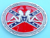 "Belt Buckle - Women on Rebel flag, 4"" x 3"""