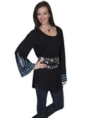 BLACK SCOOPNECK TUNIC