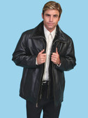 BLACK LAMBSKIN JACKET BY SCULLY