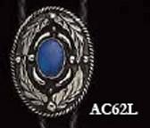 Blue Stone Oval Bolo Tie