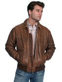 BOMBER LEATHER JACKET BY SCULLY