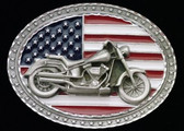 Born In The USA Motorcycle Belt Buckle
