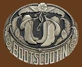 """Boot Scootin' Belt Buckle, 3-1/4"""" x 2-3/4"""" 8034"""