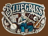 "Bluegrass Belt Buckle, 3""x2"" 7755"