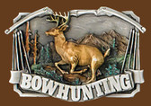 "BOWHUNTING Belt Buckle, 3-1/2"" x 2-1/2"""