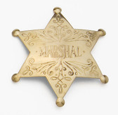 BRASS MARSHALL BADGE