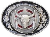 Buffalo Skull Belt Buckle 53626