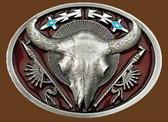 Buffalo Skull Belt Buckle 53685