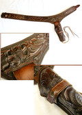 Bronco Billy's Custom Mde Hand Tooled Holster Perfect for SASS