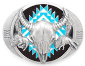 Buffalo Skull, Bison Belt Buckle