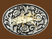 Bullrider Belt Buckle, 4 x 2-3/4