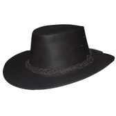 Buffalo Skin Leather Cowboy Hat