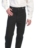 Canvas Frontier Pants Black Only  Worn By Cowboys Of The Old West Gambler Dealers and Outlaws