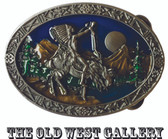 "Chief Joseph Indian Belt Buckle, 3-1/4"" x 2-1/4"""